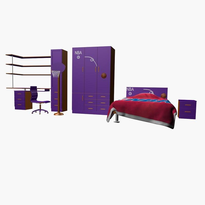 3D c bedrrom s bed