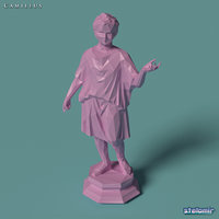 3D camillus statue polygonal model
