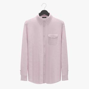 realistic man shirt pink 3D
