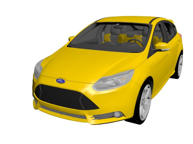 focus st 2012 3D model