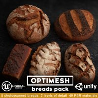 breads pack 3D model