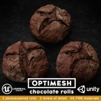 chocolate rolls pack 3D model