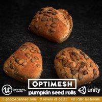 pumpkin seed rolls pack 3D model