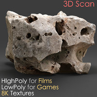 photogrammetry stone scan 04 3D model