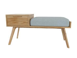 storage bench jenson 3D model