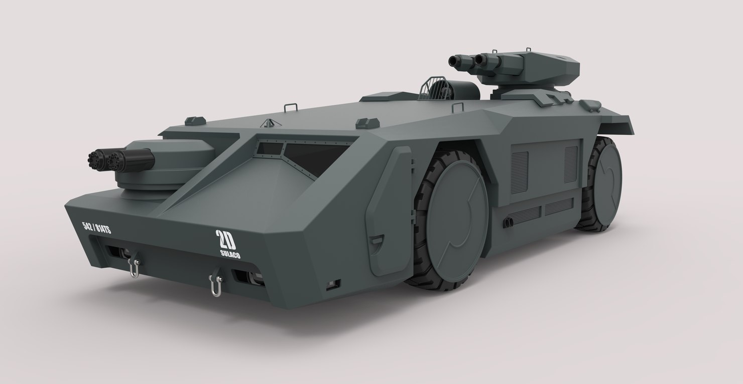 3D armored personnel carrier movie