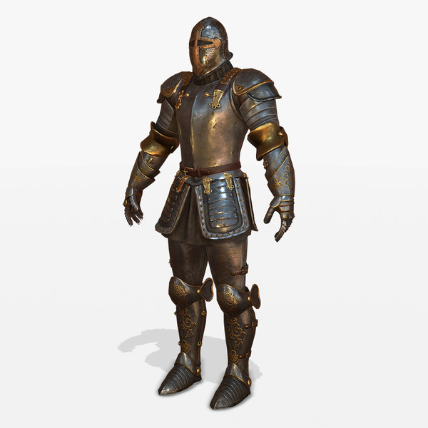 medieval armor body 3D model