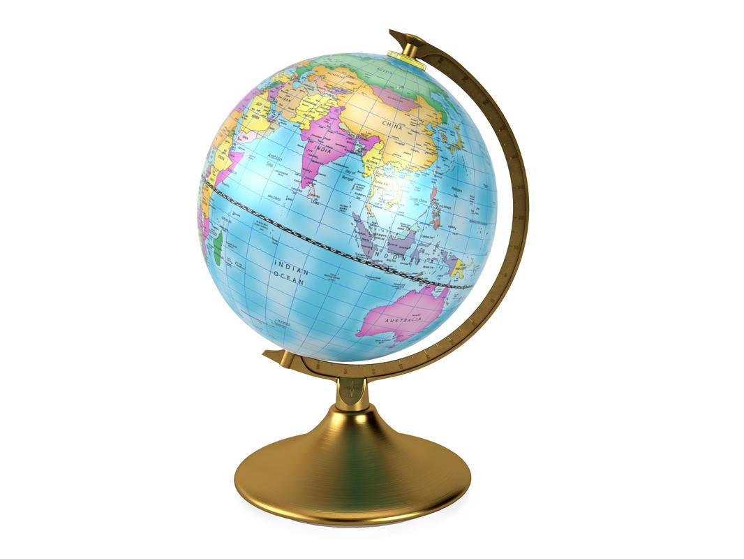 3D model world globe day