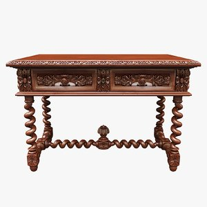 3D table antique