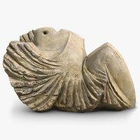 abstract sculpture angel 3D