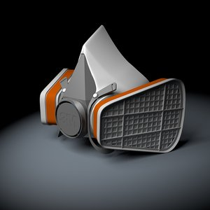 3D resperator half-mask