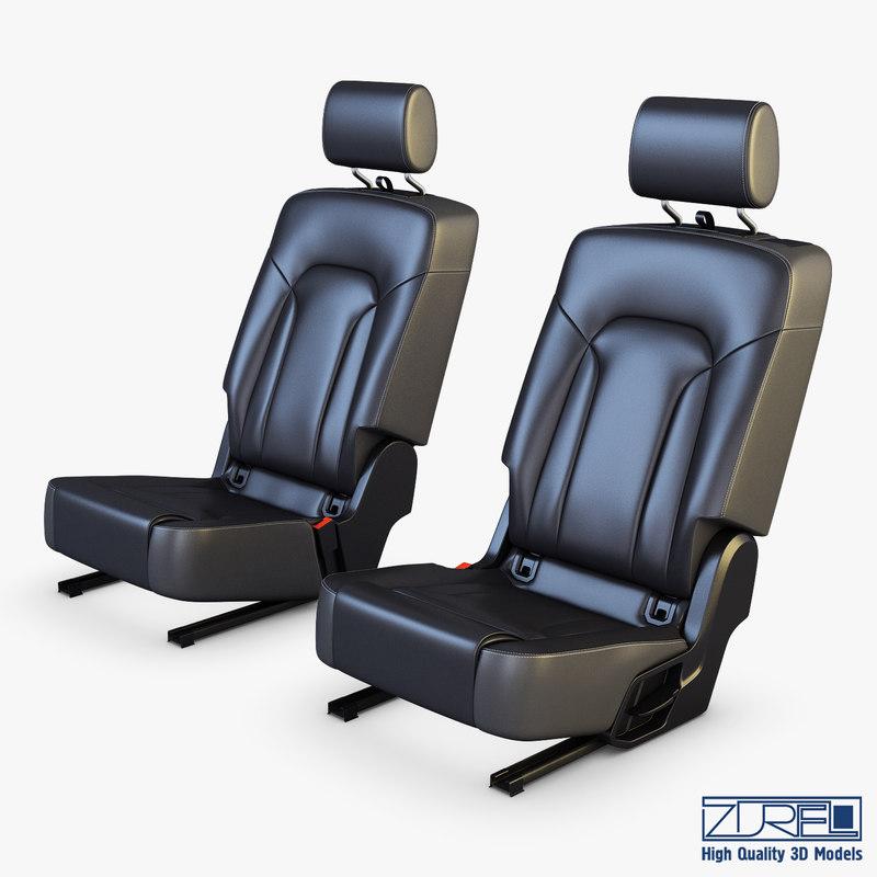 car seat rear 3D model