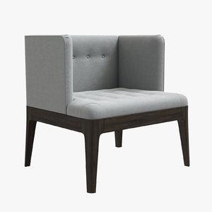 porada wendy armchair 3D