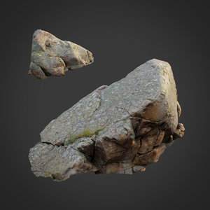 scanned nature stone 026 3D model