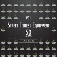 street fitness equipment 01 3D model