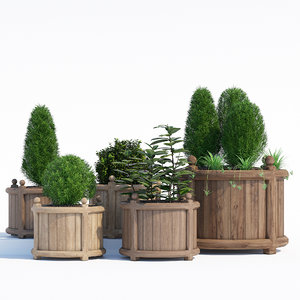 3D versailles planter model