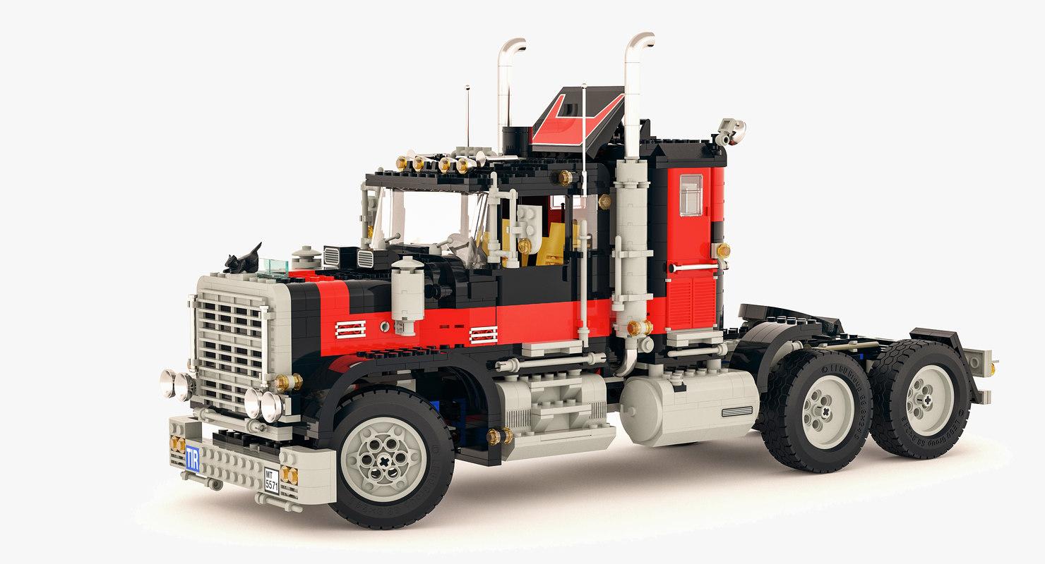 3D model lego team modeled