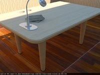 simple wooden peach office table 3D