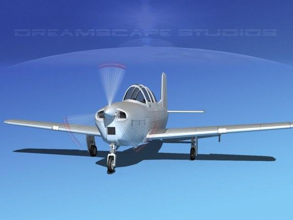 3D beechcraft t-34 mentor model