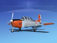3D beechcraft t-34 mentor model