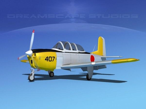 3D model beechcraft t-34 mentor