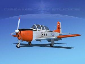 beechcraft t-34 mentor 3D model