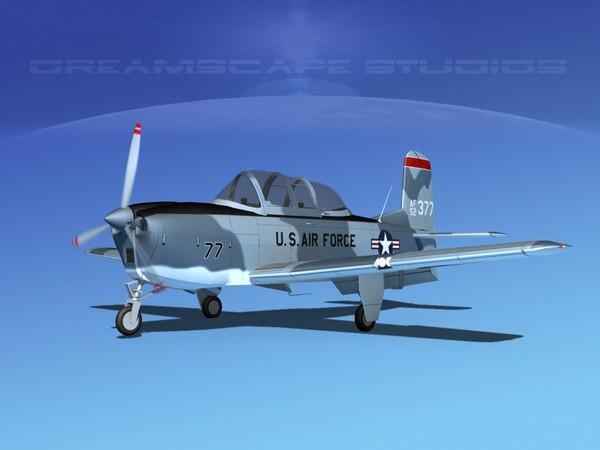 beechcraft t-34 mentor usaf 3D