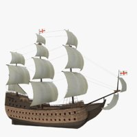 Historical sailing ship