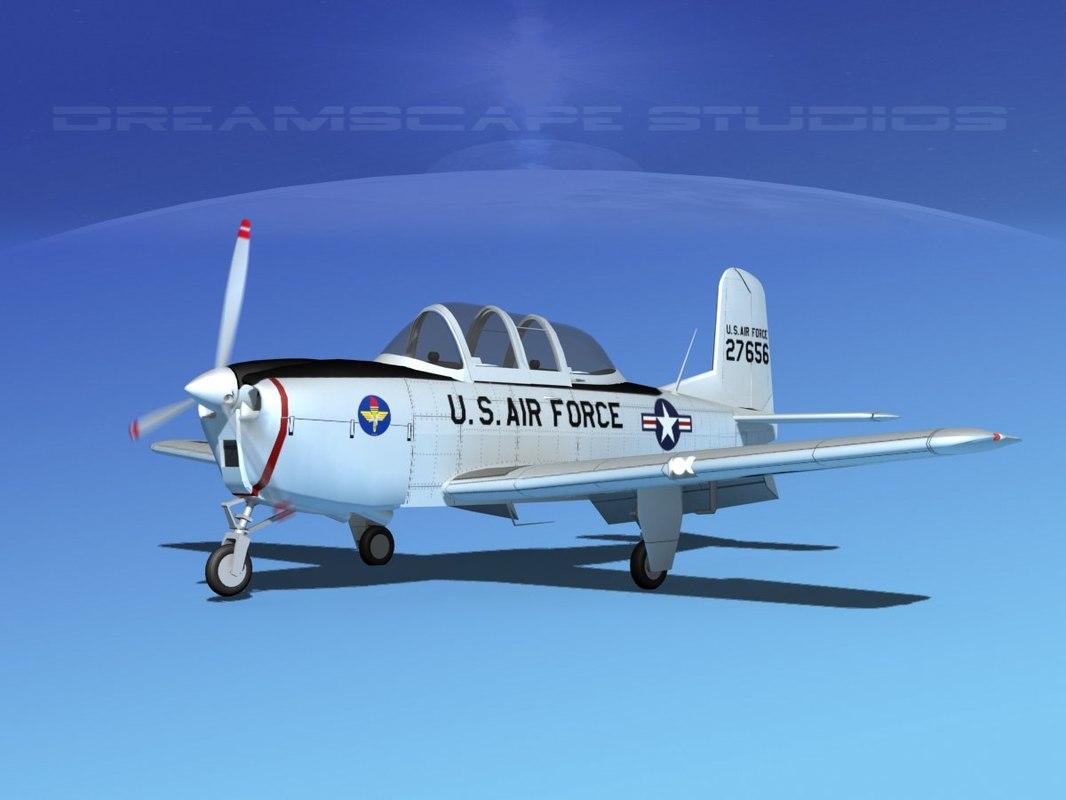 beechcraft t-34 mentor usaf model