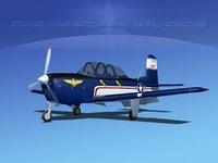 beechcraft t-34 mentor 3D