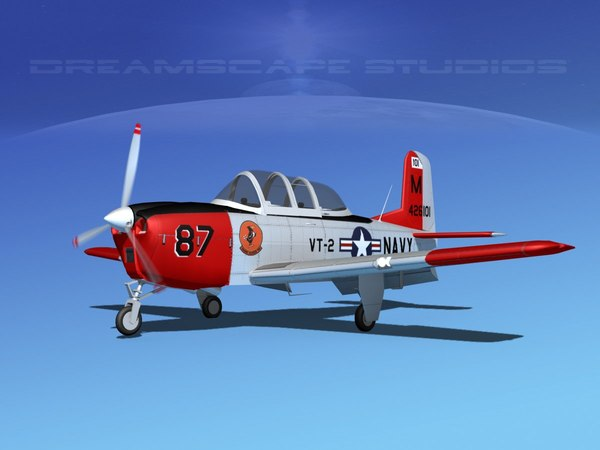 3D beechcraft t-34 mentor