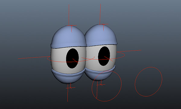 cartoon eye rig 3D model