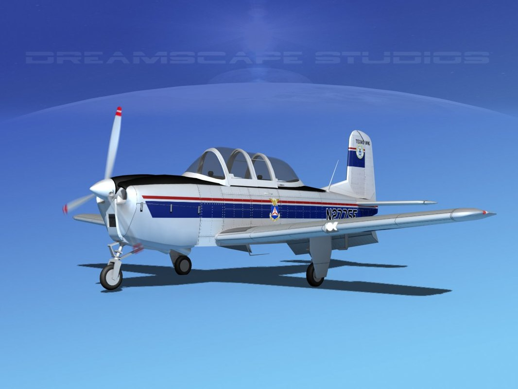 beechcraft t-34 mentor 3D model
