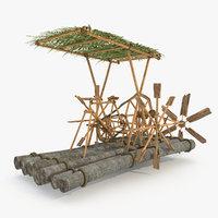 3D log raft