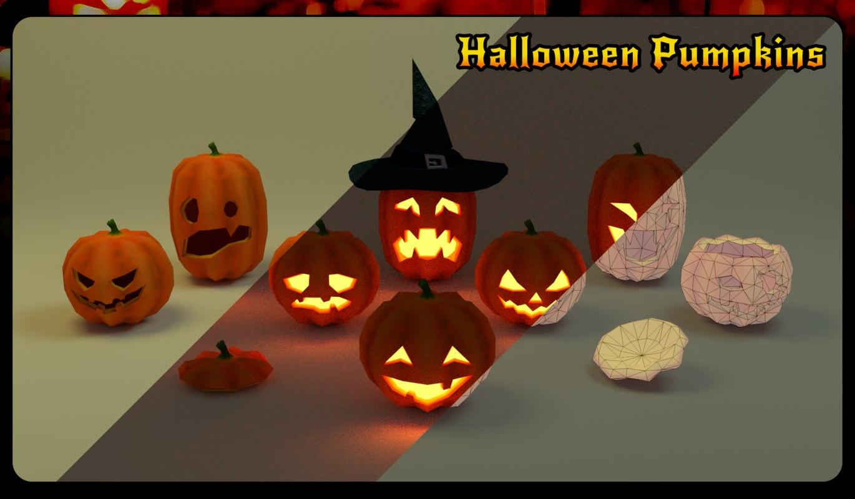halloween pumpkins 3D model