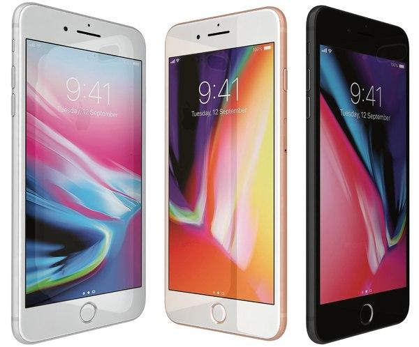 3D apple iphone 8 colors