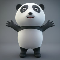 cartoon panda model