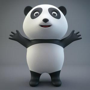 cartoon panda model