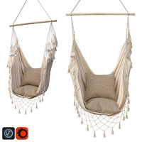 3D hammock boho cream color