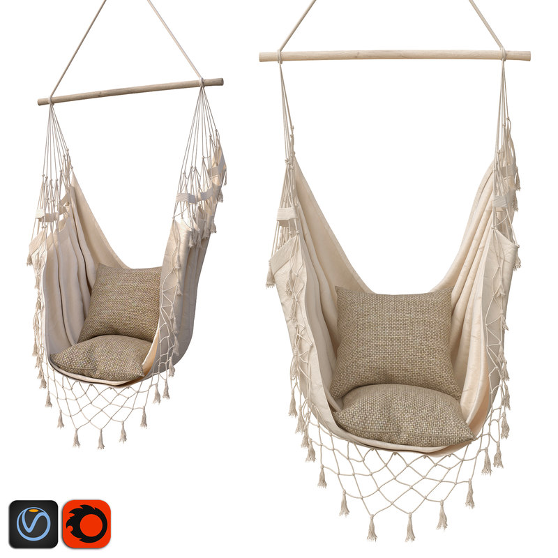 3D hammock boho cream color