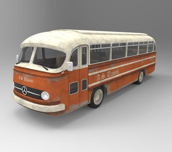 3D old bus model