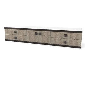 longhi aspen sideboard 3D model
