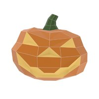 Halloween pumpkin low poly