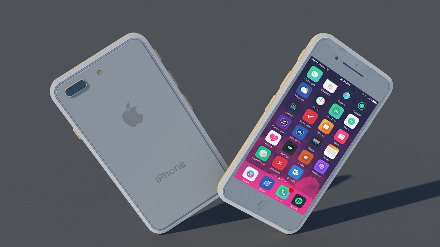 3D Iphone 8s Apple