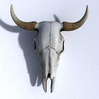 3D model cow skull