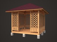 3D pavilion model