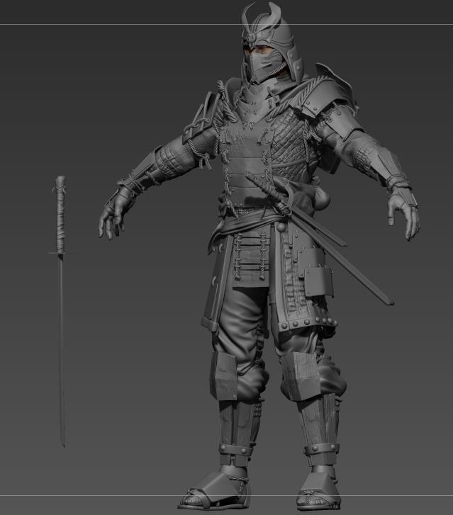 samurai zbrush model
