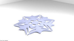 3D model snow flake