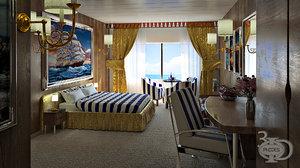 3D ship cabin model