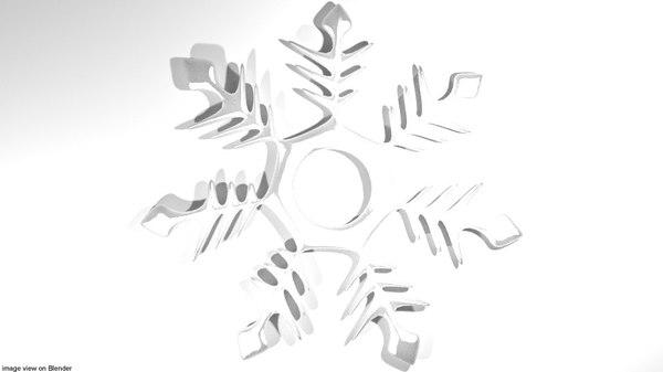 snow snowflake 3D